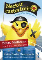 Weiterlesen: Antiatom-Frühjahrsdemo Heilbronn Sa. 4.3.2017 - Fukushima mahnt - Neckar-Castoren drohen